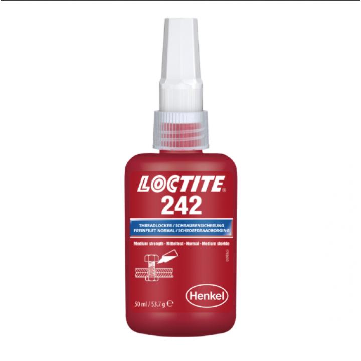 Loctite 242 50 мл - резьбовой фиксатор низкой прочности, синий.
