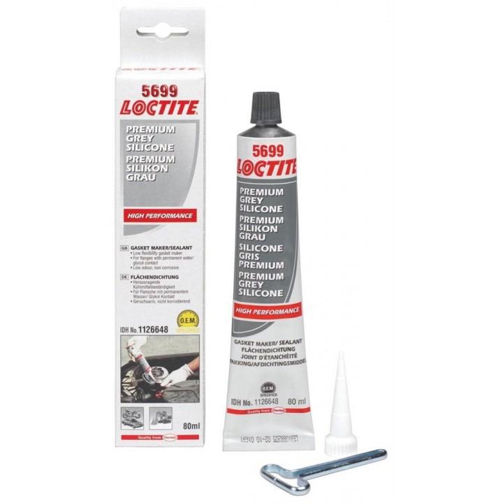 Loctite 5699  силиконовый клей герметик нейтральный, серый, 80 мл