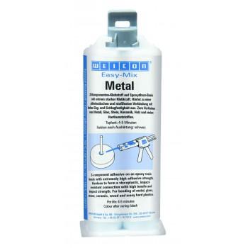 WEICON Easy-Mix Metal (50 мл) Эпоксидный клей затвердевающий 5 минут, серый