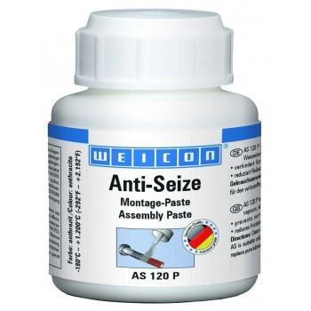 WEICON Anti-Seize Монтажная паста (120 г) Защита от коррозии и высокопроизводительное смазывающее средство. Банка+кисть.