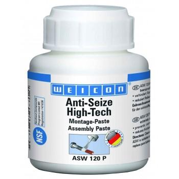 WEICON Anti-Seize High-Tech Монтажная паста (120 г) антикоррозионное средство, не содержащее метала (менее 0,1%). Банка+кисть.