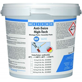 WEICON Anti-Seize High-Tech Монтажная паста (1,8 кг) антикоррозионное средство, не содержащее метала (менее 0,1%). Ведро.
