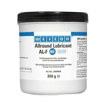 WEICON AL-F Высокоэффективная жировая смазка (350 г) для вращающихся и скользящих поверхностей, в пищевой промышленности. t°от -30С до +120С.