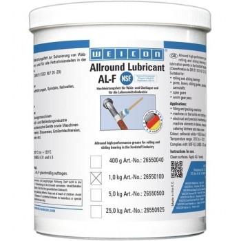 WEICON AL-F Высокоэффективная жировая смазка (1 кг) для вращающихся и скользящих поверхностей, в пищевой промышленности. t°от -30С до +120С.